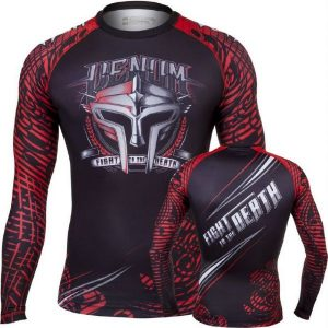 "ראשגארד Venum ""gladiator "" Rashguard - Black red ארוך"