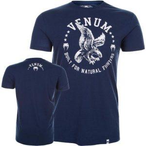 """חולצת טי שירט-""""VENUM """"NATURAL FIGHTER כחול"""