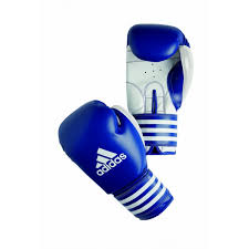 ADIBC02 boxing gloves blue whaite