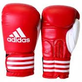 ADIBC02 boxing gloves red whaite