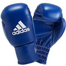adibk01boxing gloves blue whaite