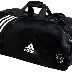 adidas-sport-bag שחור לבן דמוי עור
